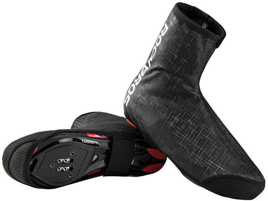 ROCKBROS - ROCKBROS Waterproof Overshoes Shoecover Overcoat Road Bike MTB  for Outdoor Sports Cycling Hiking, Fishing, Climbing Cover Windfest Ladies  Mens Unisex Black for 42-46
