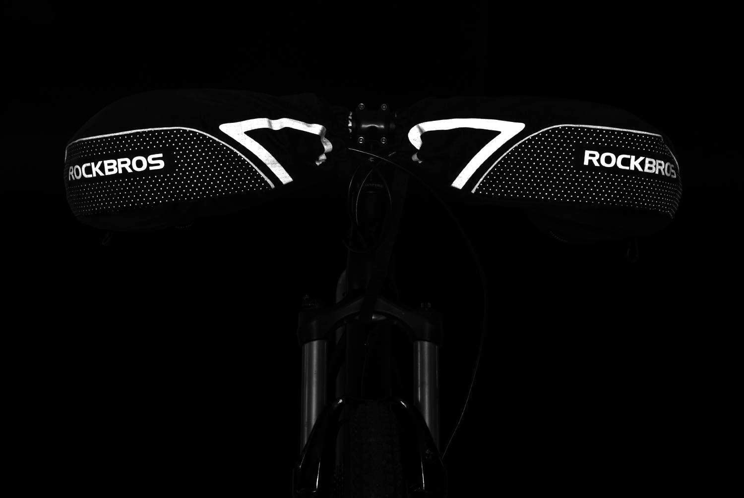 ROCKBROS Winter Gloves Cycling Motorcycle Handlebar Mittens Warmers Covers Black